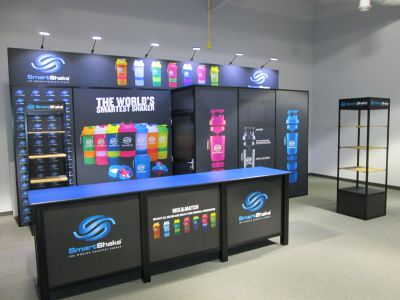 Modular Exhibit with Storage and Fabric Murals